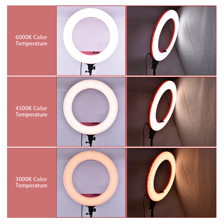 Mamen Dimmable Round Lamp LED Selfie Ring Light 80W 5500K Camera Phone Photography Video Makeup Lamp With Tripod Phone Clip in Photographic Lighting from Consumer Electronics