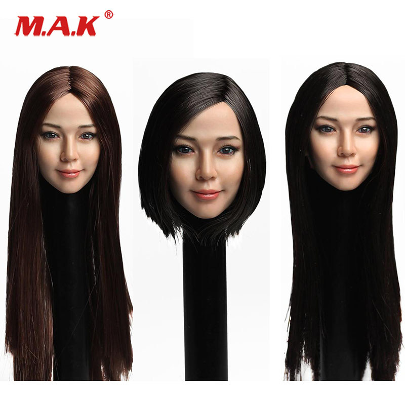 #B 1//6 Scale SUPER DUCK SDH003 Asian Female Head Sculpt