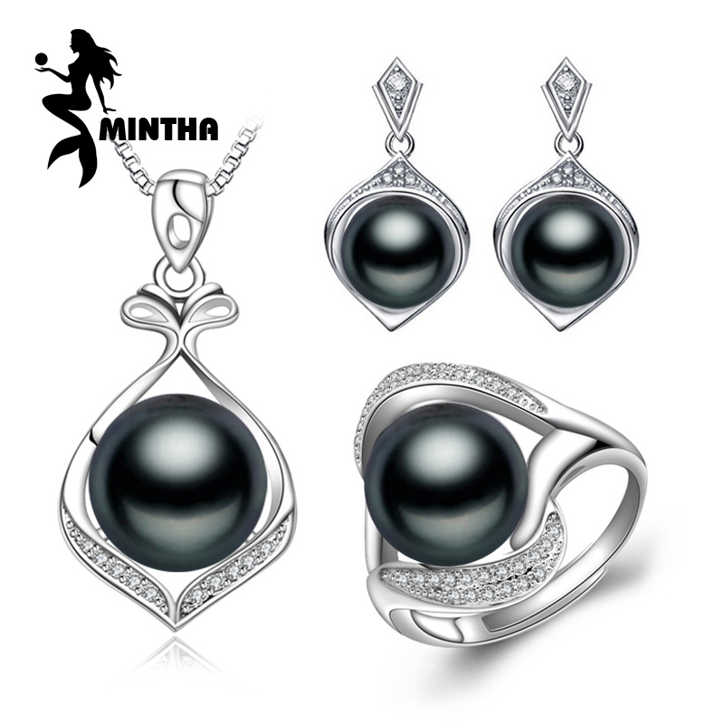 MINTHA Pearl Jewelry,Freshwater Pearl Pendant Necklace ethnic earrings,antique ring,bridal jewelry sets,stud earrings for women