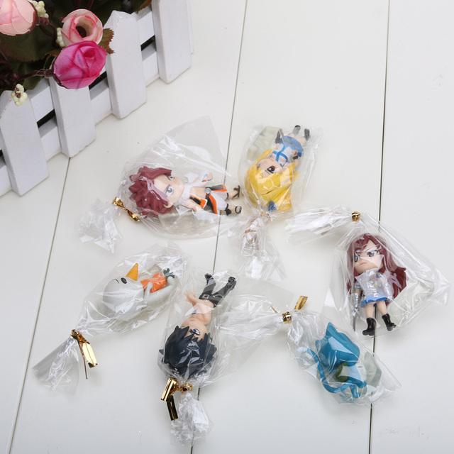Fairy Tail Anime Action Figure Model 6pcs/set Toys