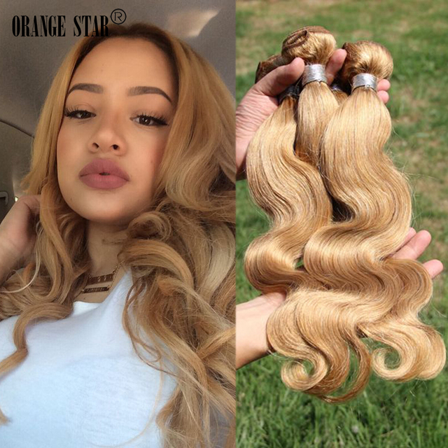 Honey Blonde Brazilian Hair Weave 4bundles Body Wave 7a Blonde Wavy
