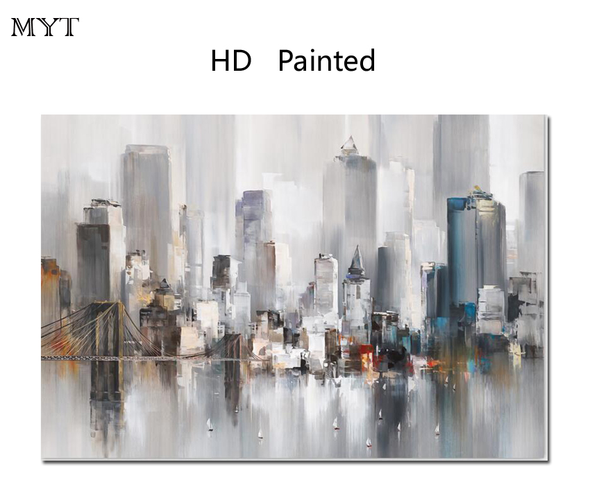Pop unique gift HD Printed Painting Home Decor Art Picture High-rise buildings For bed room living room No Framed or Diy Framed