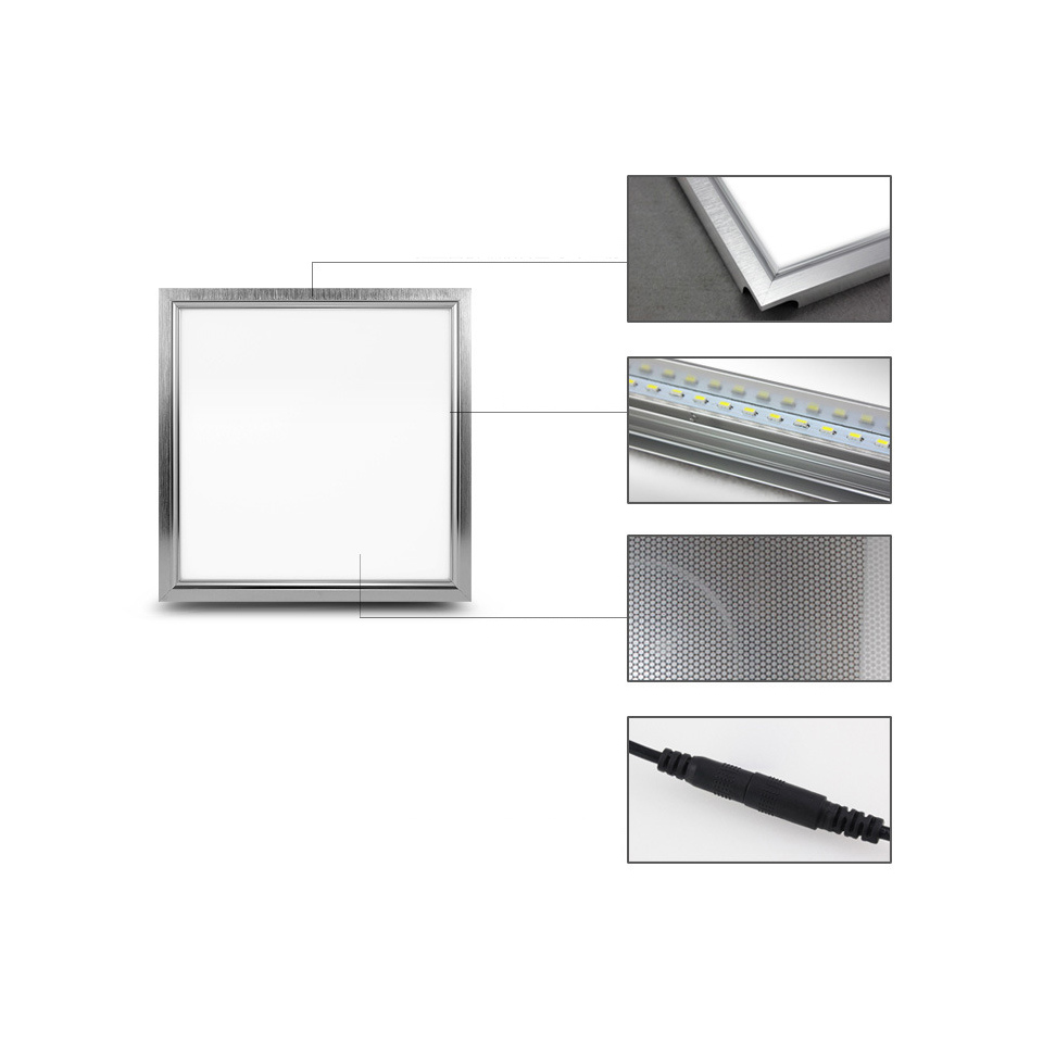 High quality with cheap price led panel light 36w 600x600 ac85 265v - Aliexpress Com Buy Led Panel Light 600x600 48w Square 300x300 18w Led Panel 300x600 24w Led Ceiling Light 4800lm Indoor Lighting Ac85 265v Ce Rohs From