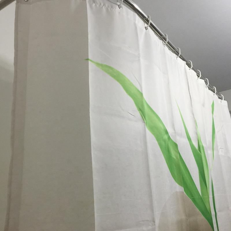 Grüne blätter steine design duschvorhang bad wasserdicht - Haushaltswaren - Foto 4