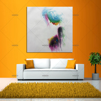 New Contemporary Modern Colorfull Nude Art Painting Hand Painted Unique Ideas Sexy Woman Body Canvas Oil