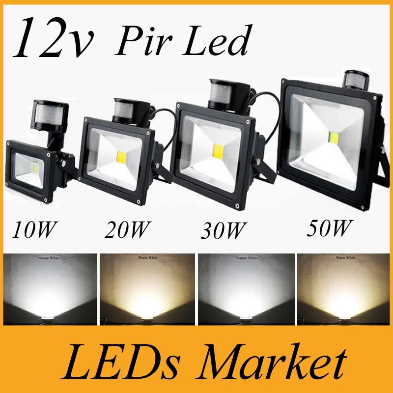 pir infrared motion sensor led floodlight ac dc 12v 10w 20w 30w 50w cob ip65 led flood light for. Black Bedroom Furniture Sets. Home Design Ideas