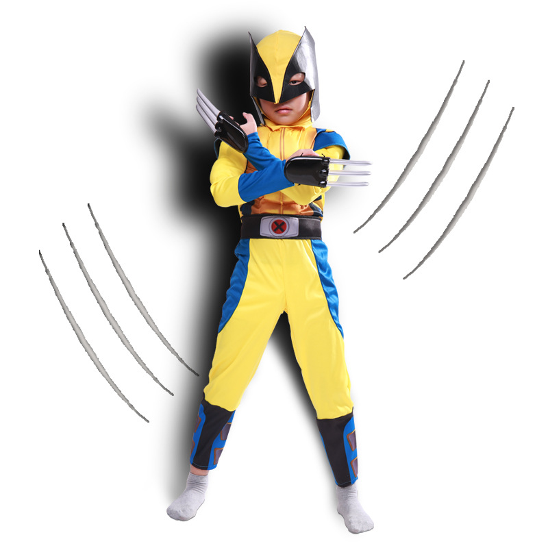 Movie X-Men Wolverine Onesie Kids Clothing Boys Girls Suit Cosplay Costumes Superman Superhero Party Mask Gifts for Kids