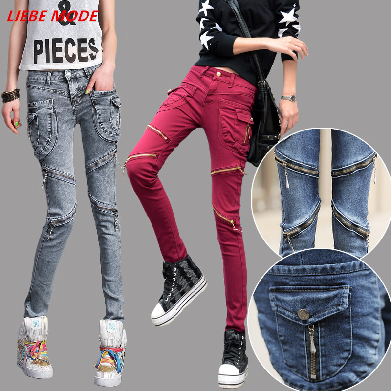 Red Skinny Leg Jeans Promotion-Shop for Promotional Red Skinny Leg ...
