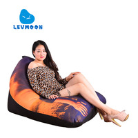 LEVMOON Beanbag Sofa Chair Mike Seat Zac Comfort Bean Bag Bed Cover Without Filler Cotton Indoor