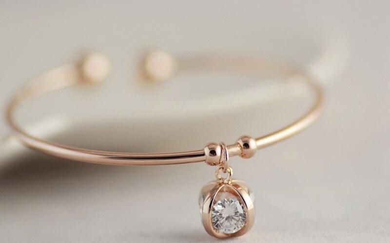 12pcs/lot Romantic Lucky Style Bracelet Alloy Rhinestone Globules Bangle Women Make Up Ornaments jb227