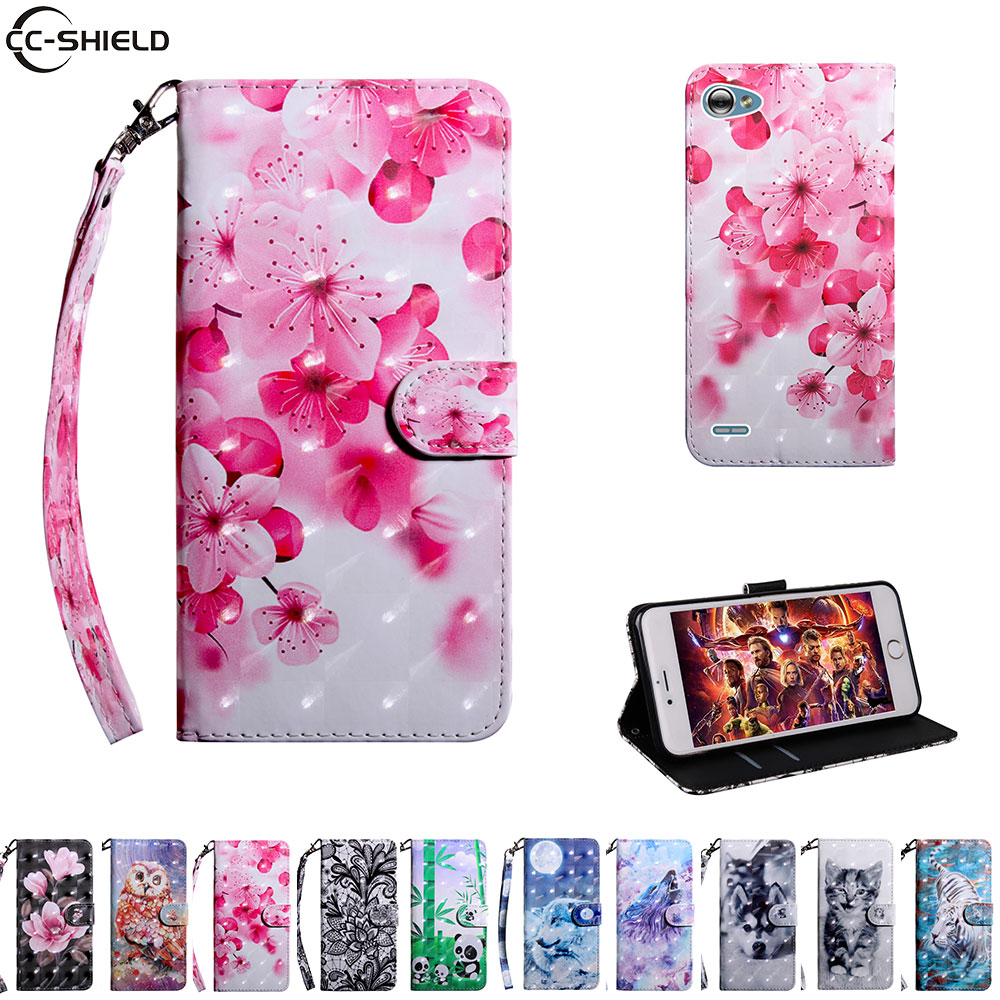 Flip Case For LG Q6 Q 6 Case Mobile Phone Leather Cover For LGQ6 M700A M700AN M700TV M700 A AN TV M700F Soft Cases Wallet TPU