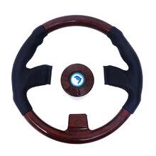 13.5 بوصة قارب رمح خشبية الرجعية عجلة القيادة 3 المتحدث عجلة القيادة ل مركبة بحرية يخت قارب سريع اكسسوارات للقوارب البحرية