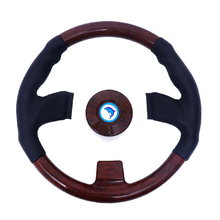 13.5 pollici Albero Barca di Legno Retro Volante 3 Raggi Volante Per Marine Yacht Barca di controllo remoto Motoscafo Barca Marine Accessories