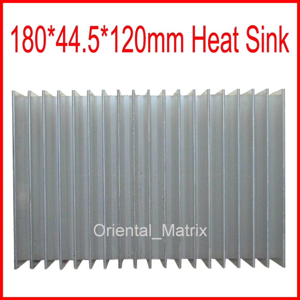 Free Shipping 180*120*44.5mm HeatSink Heat Sink Radiator Small Radiator - Silver 5pcs lot pure copper broken groove memory mos radiator fin raspberry pi chip notebook radiator 14 14 4 0mm copper heatsink