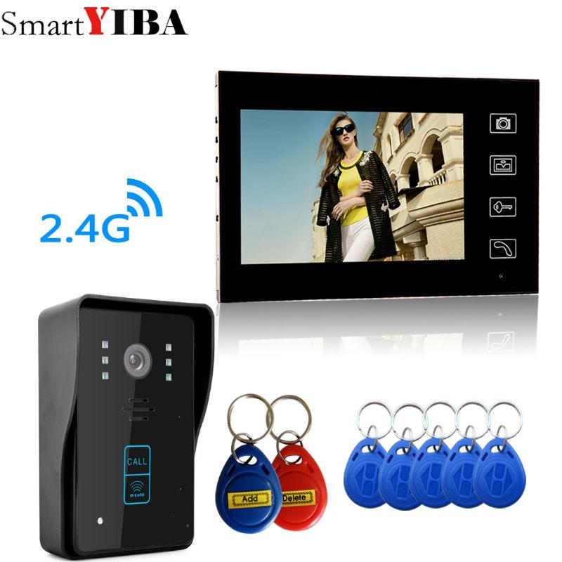Smartyiba 2.4 г 7 TFT Беспроводной телефон видео домофон Дверные звонки охранных Камера Мониторы RFID брелков