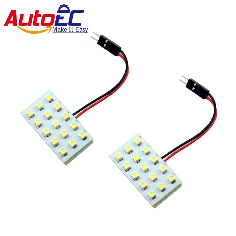 ①AutoEC 10x Car Dome Festoon T10 15smd 1210 3528 LED 3 adapter ...