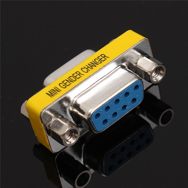 5 pcs RS232 Serial Port Connector DB9 Female Socket/Plug Connector 9pin Copper RS232 COM Socket Adapter