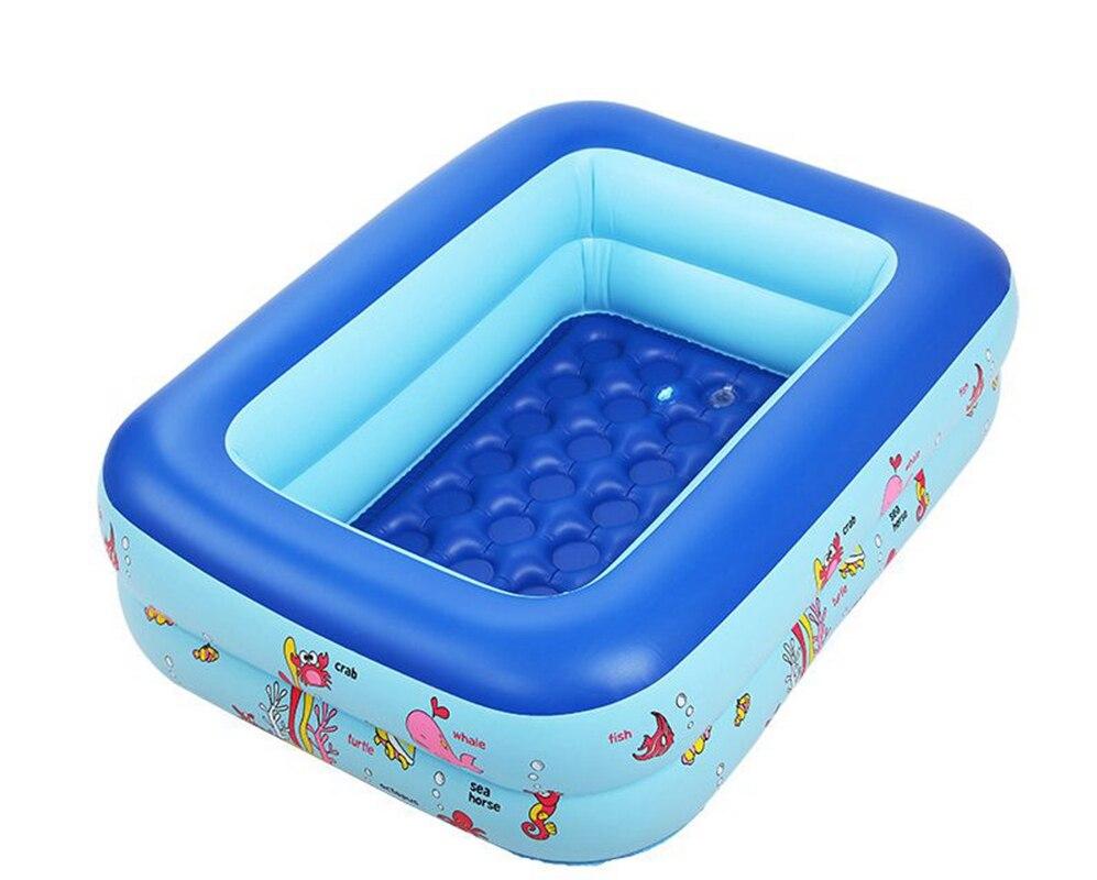 Inflatable Pool 2 layers baby children splashing ocean balls sand tub kids bathtub Cartoon swimming fishing pool 115x90x35cm