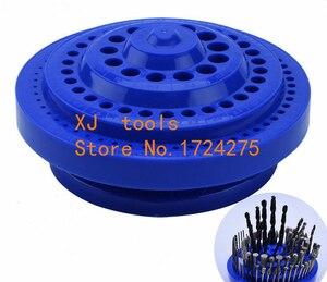Image 3 - Broca em plástico resistente, organizador de plástico redondo, ferramenta de 100 furos