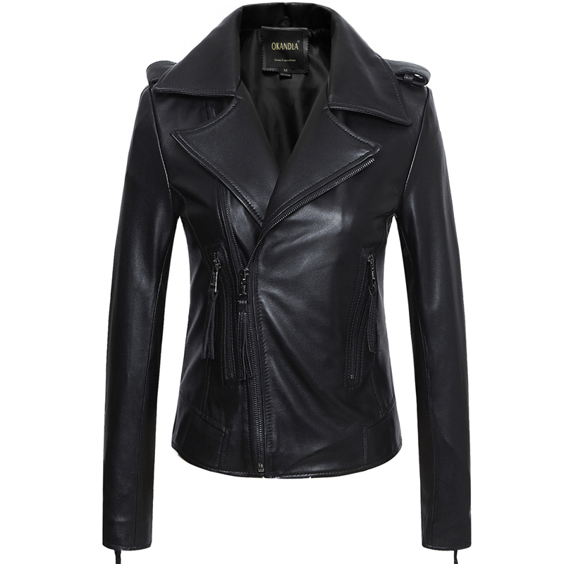 Free Shipping,Brand OL Style Genuine Leather Casual Short Jackets.plus Size Soft Sheepskin Slim Jacket,sales.lady Business Coat,