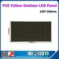 6 шт. Крытый желтый цвет P10 СВЕТОДИОДНЫЕ панели 32x16 пикселей P10 светодиодный модуль + 1 шт. управления wi-fi карты XU2W + 1 шт. питания
