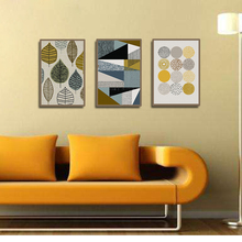 Unframed Wall Art Canvas Painting Nordic Style Geometry Picture Oil on Abstract  for Home Room Decor