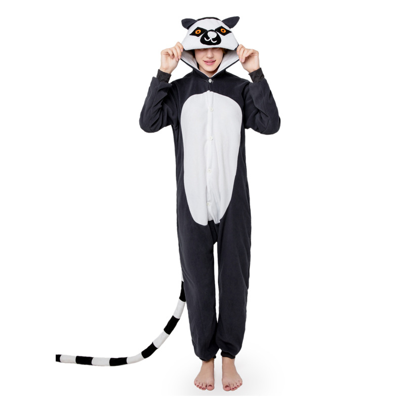 monkey Kigurumi Onesies Costumes 2019 Men and women Hooded animal cartoon pajamas blue shark home lovers long sleeve Jumpsuits