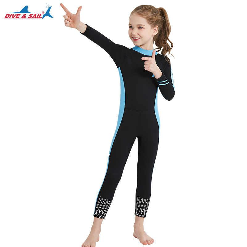 1a32c2e850 ... Kids Wetsuit Neoprene 2.5mm for Boys/Girls Snorkeling Swimming Suit Full  Body One- ...