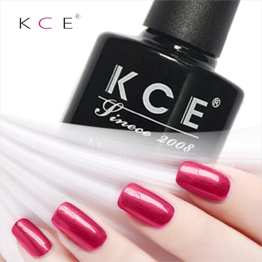 NUOVO KCE fashion Gel per unghie smalto per unghie UV e LED splendente colorato 100 colori 8g di lunga durata Soak Off Varnish Manicure