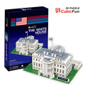 candice guo! 3D puzzle toy CubicFun paper model jigsaw game DIY toy the white house C060h 1pc