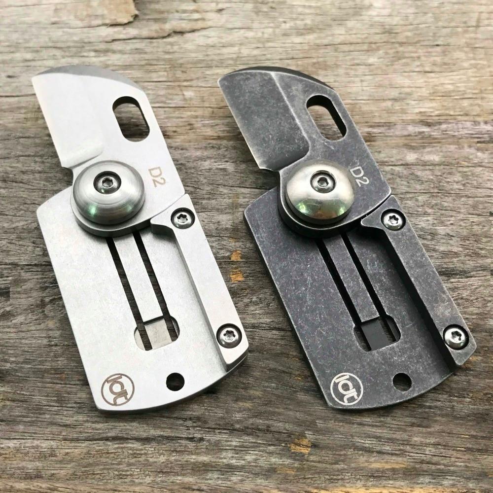 LDT Dog Tag Mini skládací nože D2 Blade Handle Camping Outdoor - Ruční nářadí - Fotografie 4