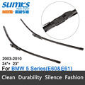 "Wiper blades for BMW 5 Series E60 E61 ( 2003 - 2010 ) 24""+23"" fit pinch tab type wiper arms only"