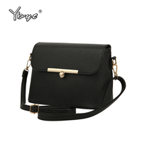 YBYT Brand 2017 New High Quality Casual Solid Women Flap Ladies Luxury PU Leather Satchel Small