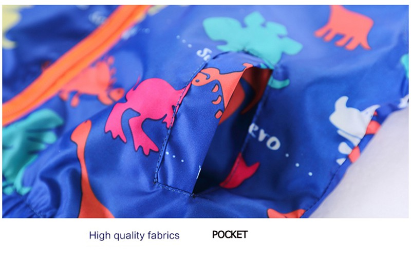 80-120cm Cute Dinosaur Acitve Children Boy Jackets Spring Clothes For Kids Girls Trench Coats Windproof Camouflage Outerwear (10)