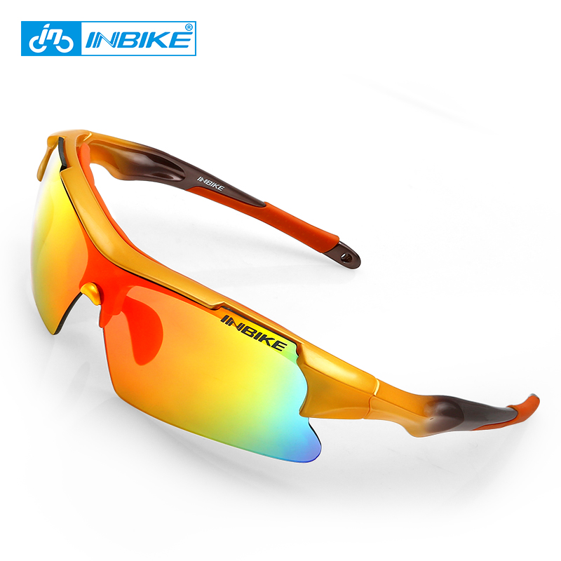INBIKE 2018 Cycling Eyewear Men Women Outdoor Sport Glasses Polarized Bicycle Sunglasses Bike Riding Protection Goggles 5 Lens