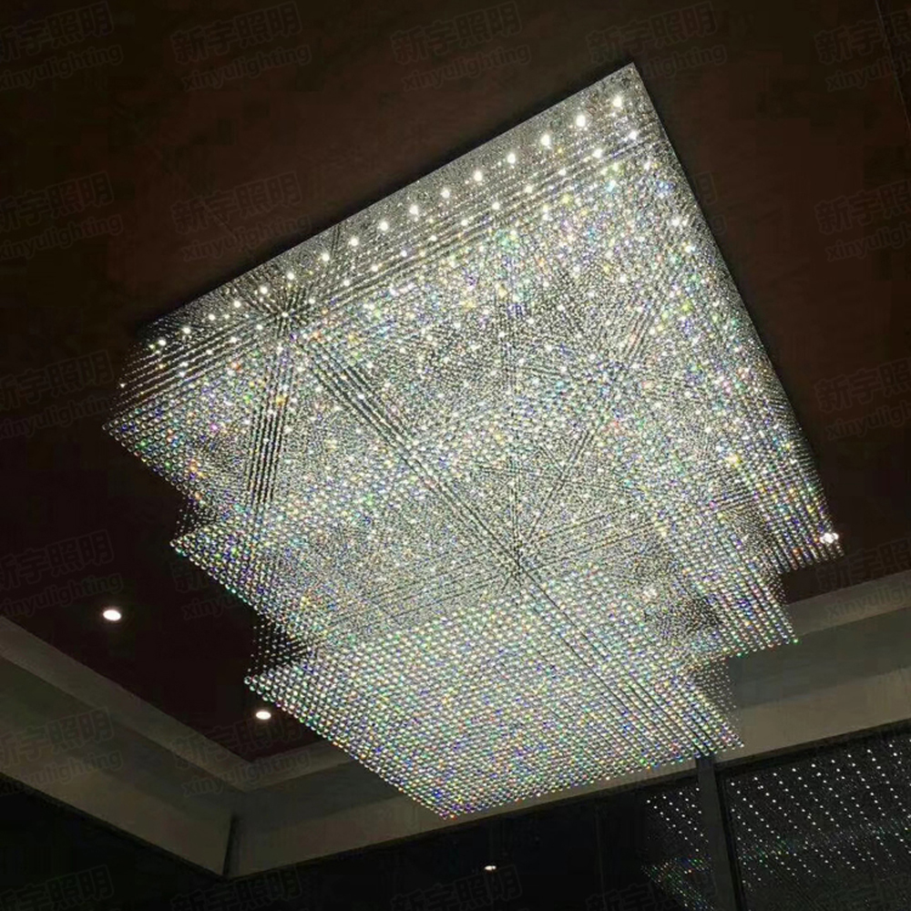 Modern Design Large Crystal Chandelier Hotel Lighting Ac110v 220v