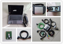 sd connect c4 top quality with laptop z485 ram 4g with software hdd 250gb full set mb star diagnose for cars and trucks