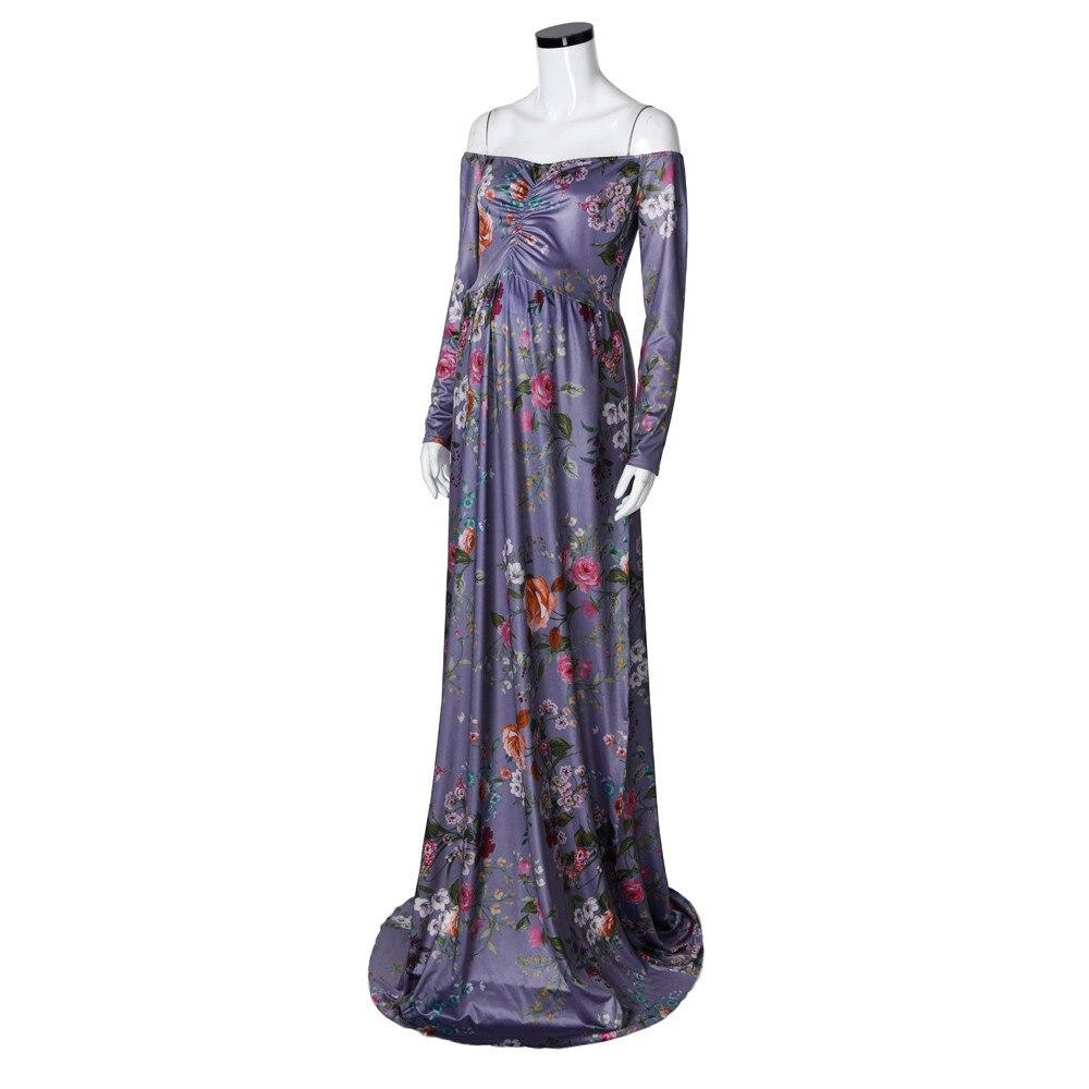 Womail Bohemian Print Full Sleeve Off Shoulder Long Dress Summer Womens Dresses Pregnant Nursing Clothing for Women