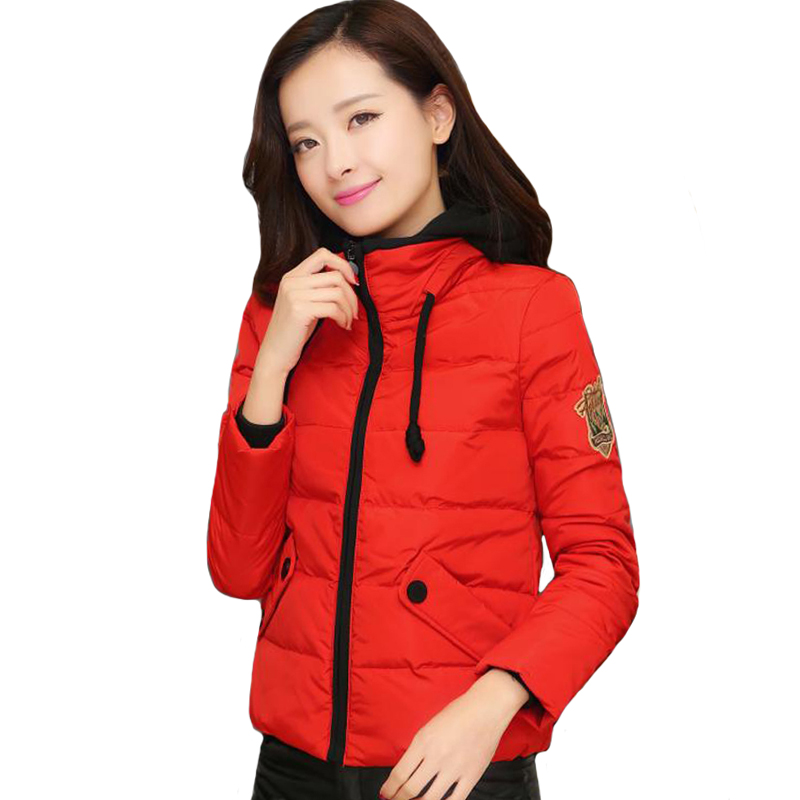 2019 New Arrival Winter Women Jacket Hooded Cotton Padded Female Short Coat Outwear Autumn Ladies   Parka