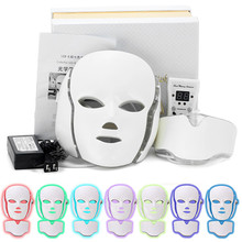 LED Facial Mask Therapy 7 Colors Led Korean Photon Light Acne Neck Beauty Wrinkle Removal