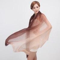 super big size 100%goat cashmere women thin scarfs shawl pashmina gradient color 100x240cm wholesale retail