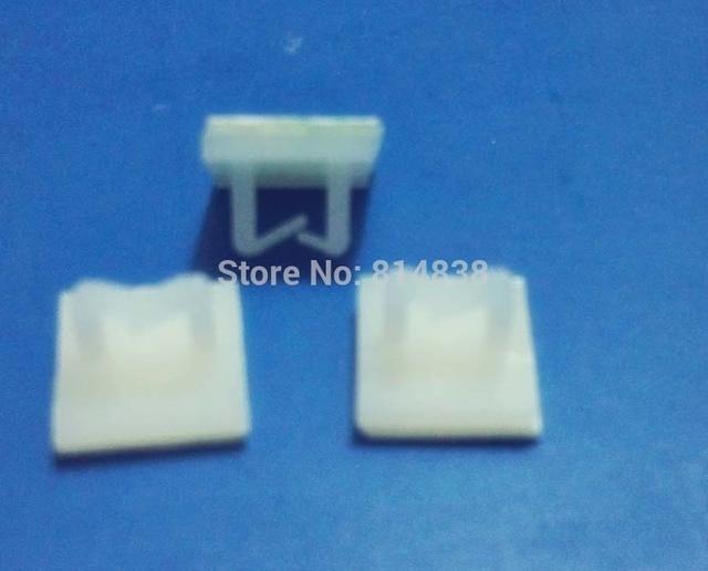 NC1010 White Nylon Plastic Self Adhesive Tie Mount Wire Saddle 1000 ...