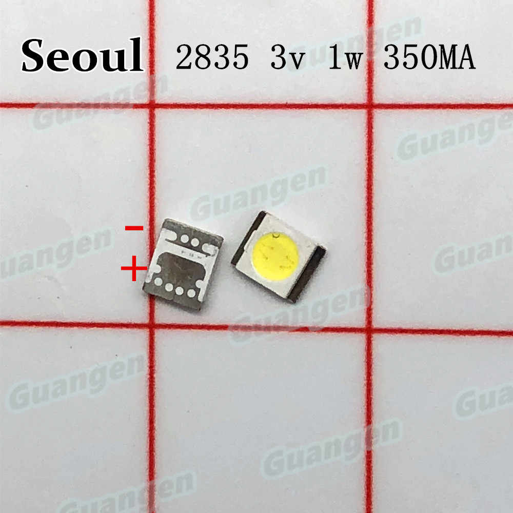 1000pcs Original โซล LED Backlight 3528 2835 1W 100LM Cool สีขาว SBWVT124E LCD Backlight สำหรับ TV TV Application