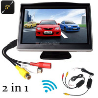 2 in 1 Wirelss 5 TFT Car Monitor hd 800 x 480 Car Rear View Display TFT LCD Screen For Car parking camera rear view camera