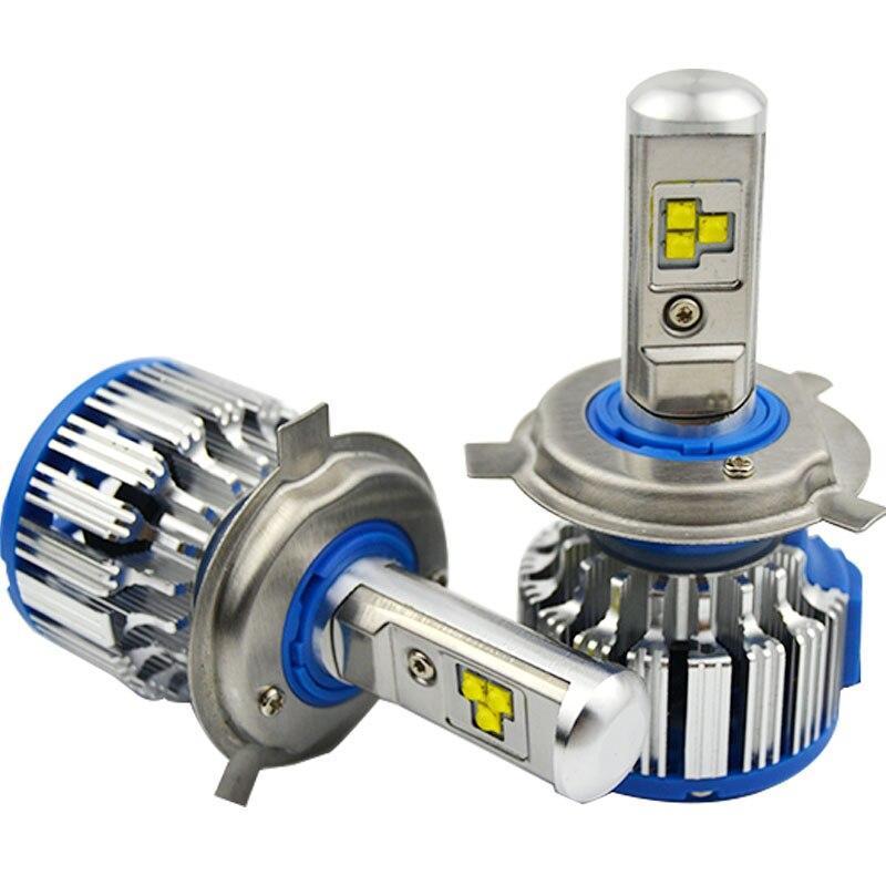 H1 H3 H4 H7 H11 9005 9006 880 881 voiture phare LED haute puissance Auto H4 haute faible blanc 6000 K ampoule Repalcement Bi xénon phare
