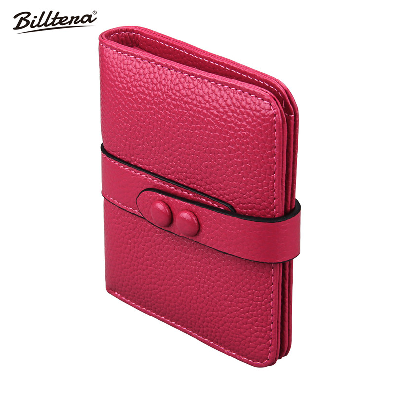 Billtera New Mini Rfid Wallets for Women Fashion Style Genuine Leather Coin Wallet 4 Colors Money Bag with Card Holder Hot Sale