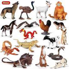 Oenuxสัตว์ป่าLizard Bat Snake Action Figureฟาร์มไก่วัวหมูแมวม้ารุ่นFigurines Miniature Collectionของเล่นสำหรับเด็ก