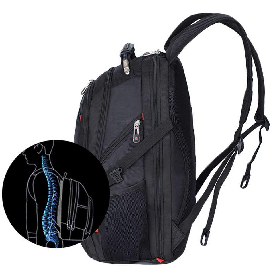 حقيبة كمبيوتر محمول أكسفورد لمدة 15/17 بوصة كمبيوتر محمول الرجال السويسري مقاوم للماء حقائب الظهر الإناث خمر حقيبة مدرسية حقائب السفر على ظهره mochila