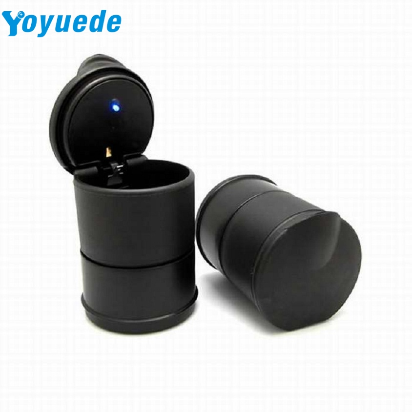 SP 5 Mosunx Business 2016 Hot Selling LED Portable Car Truck Auto Office Cigarette Ashtray Holder Cup Black