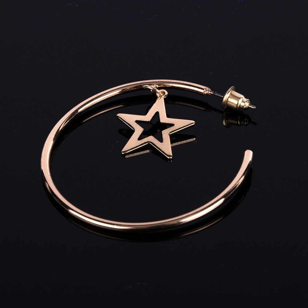 Dy Gold สีดาวขนาดเล็ก Hoop ต่างหูสำหรับผู้หญิง 2019 หู Huggie ต่างหูเครื่องประดับ Bijoux Brincos